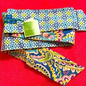 Vera Bradley Capri Blue Scarf Sash Belt